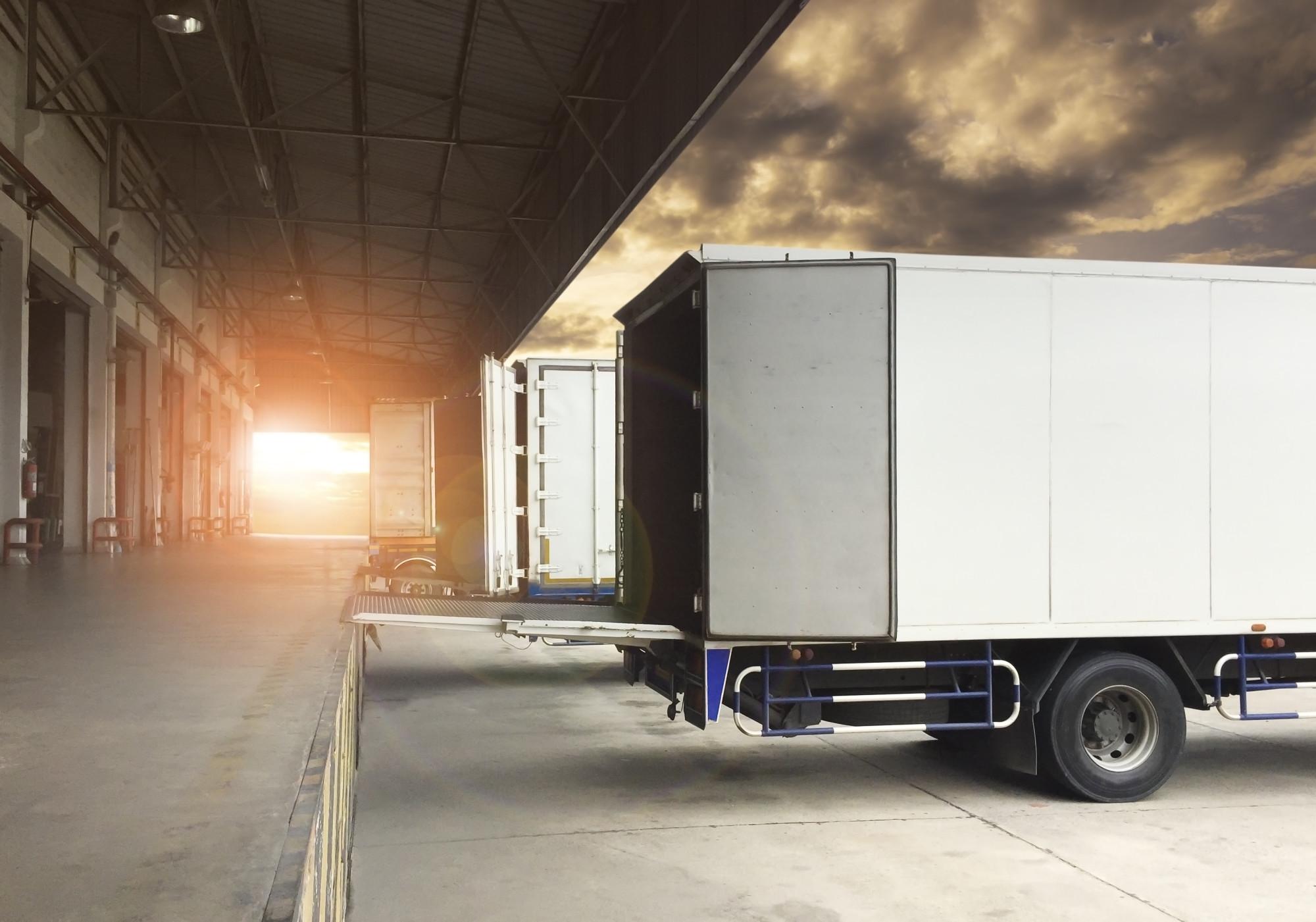 trailer at loading dock