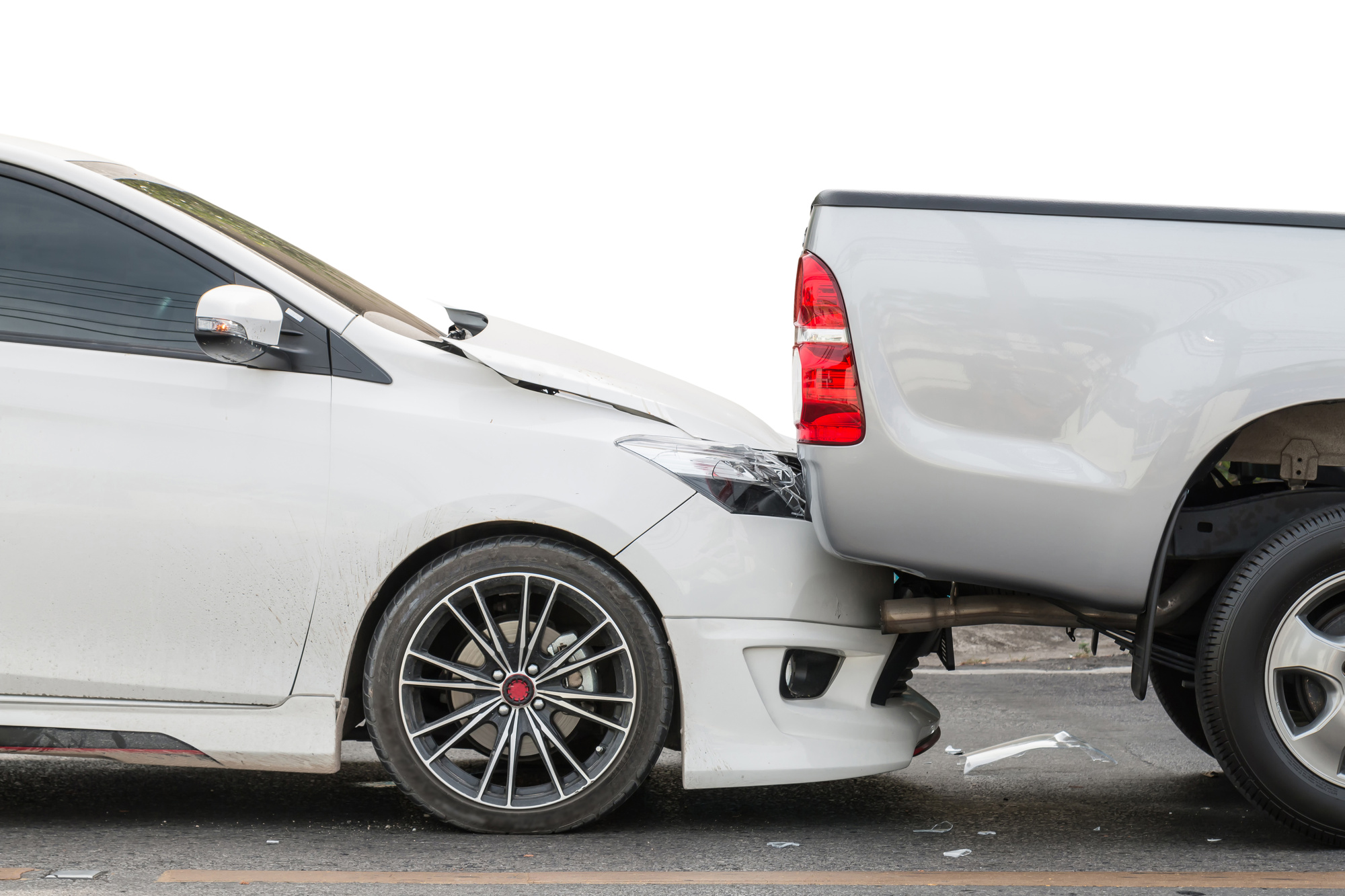 Rear End Collision Between Two Cars