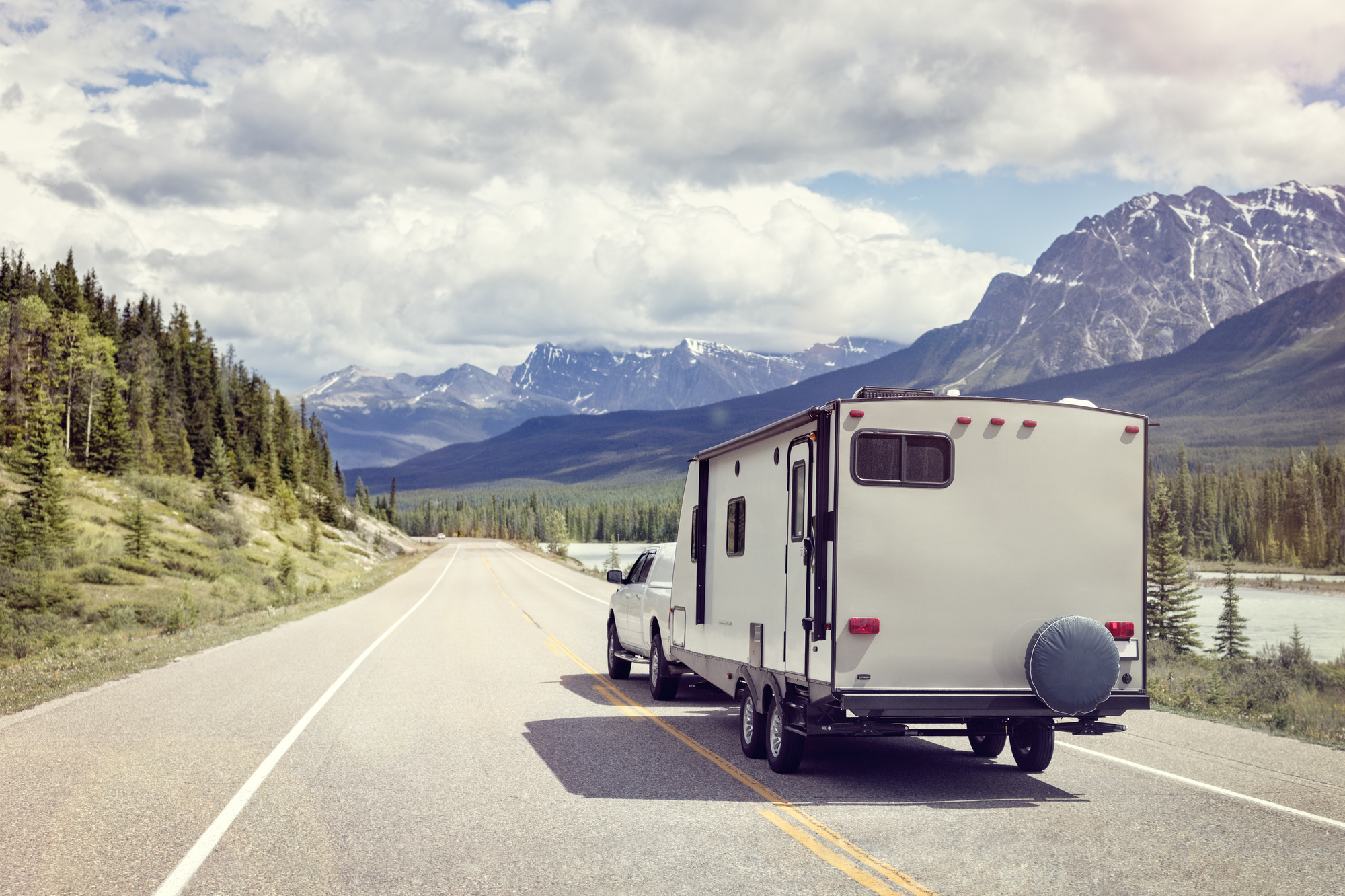 RV on a Road