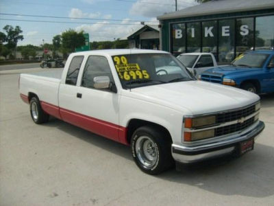 Chevy Silverado Stock Rims >> Buy 1990 Chevrolet 1500 LOWERED RALLY WHEELS RUNS GREAT FT BED160,998,Extended Cab Pickup,Red ...