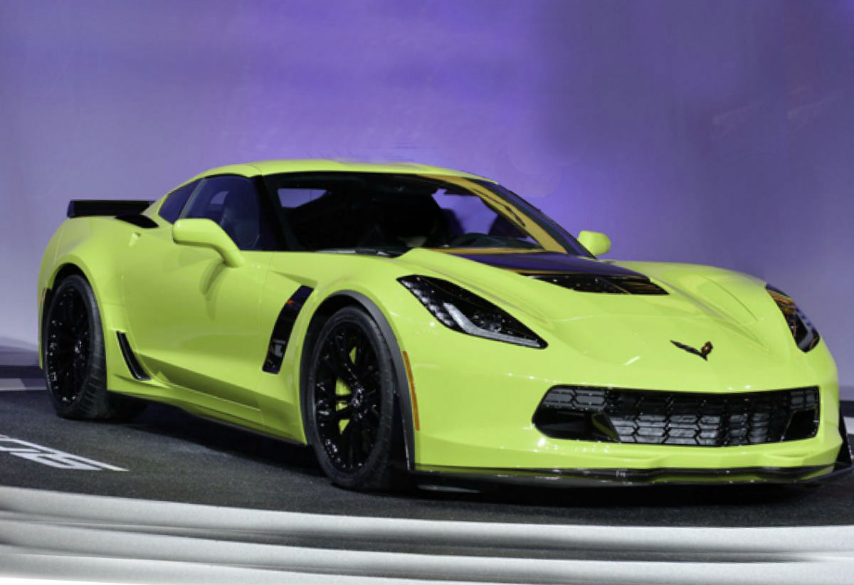 The Chevrolet brand at the car show in New York