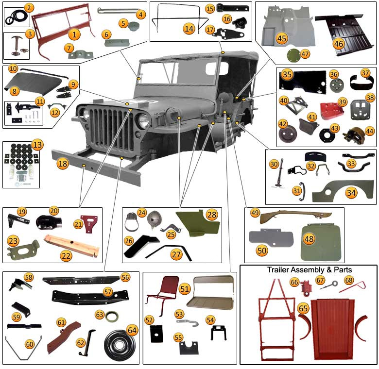 Mercedes Replacement Parts >> Parts jeep willys mb
