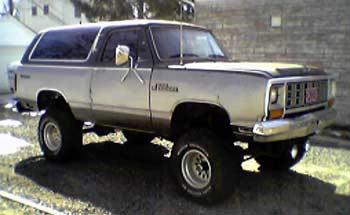 Dodge Ramcharger Prospector With Quot Skyjacker Lift Kit Quot Body Lift C on 1993 Dodge Dakota Body Kit