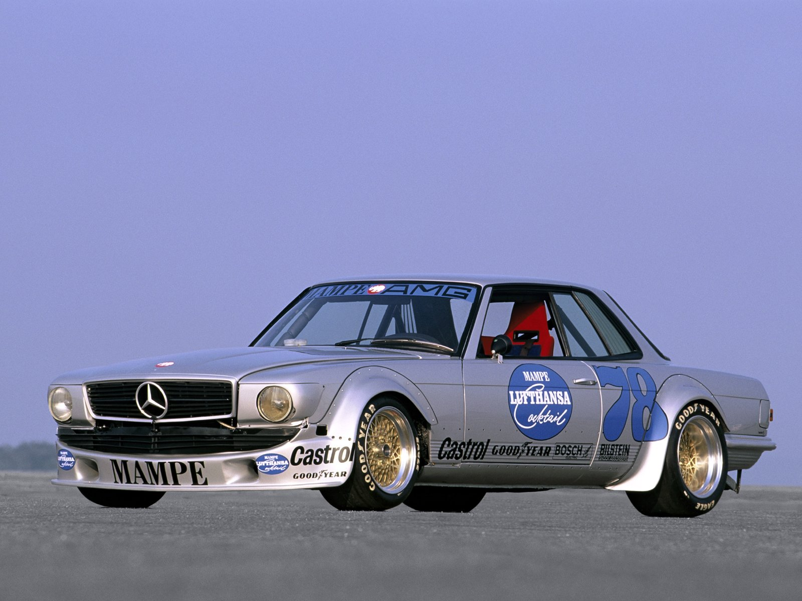 Wheel sizing of original slc mampe race car mercedes for Mercedes benz race