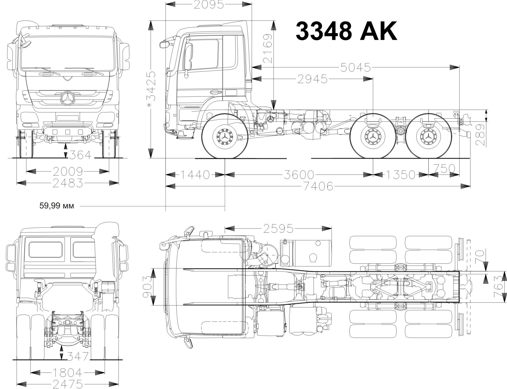 Mercedes Benz Actros  Specification