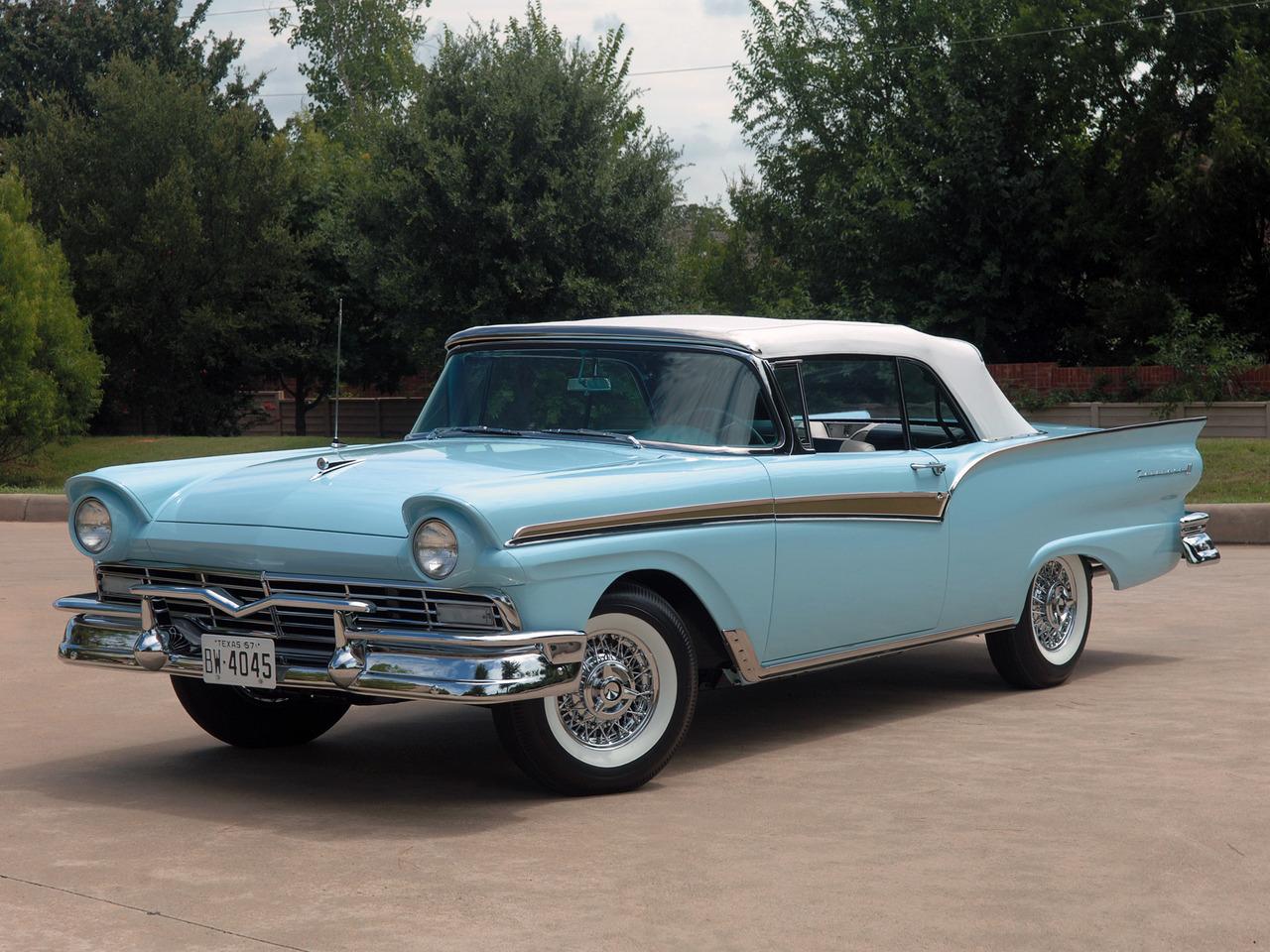 1957 500 Fairlane Ford Sunliner