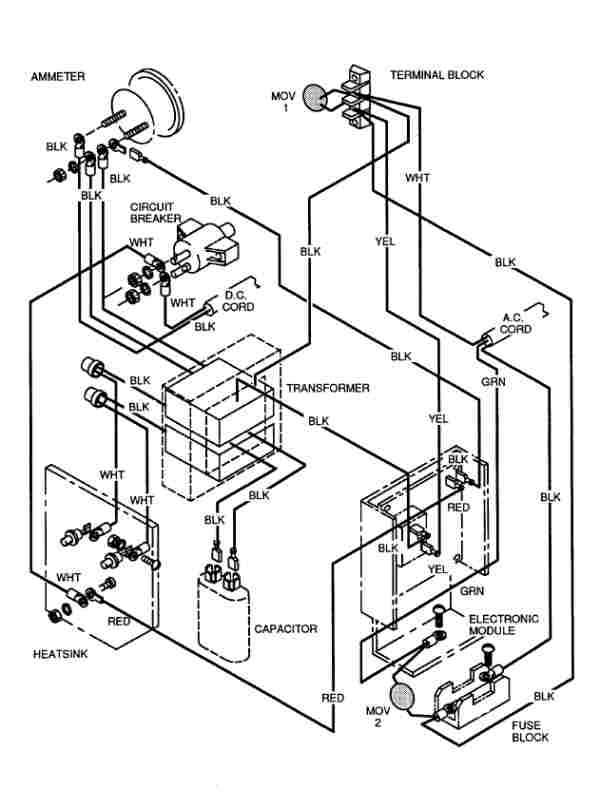 Club Car Golf Cart 36 Volt Battery Wiring Diagram