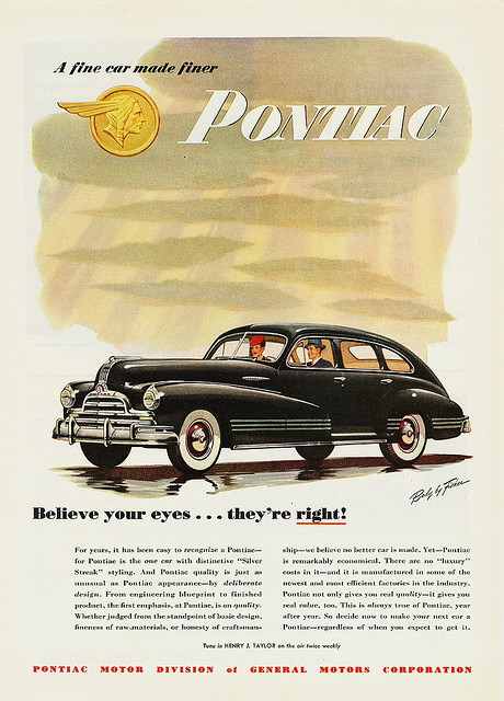 Pontiac Streamliner Eight 4-dr sedan