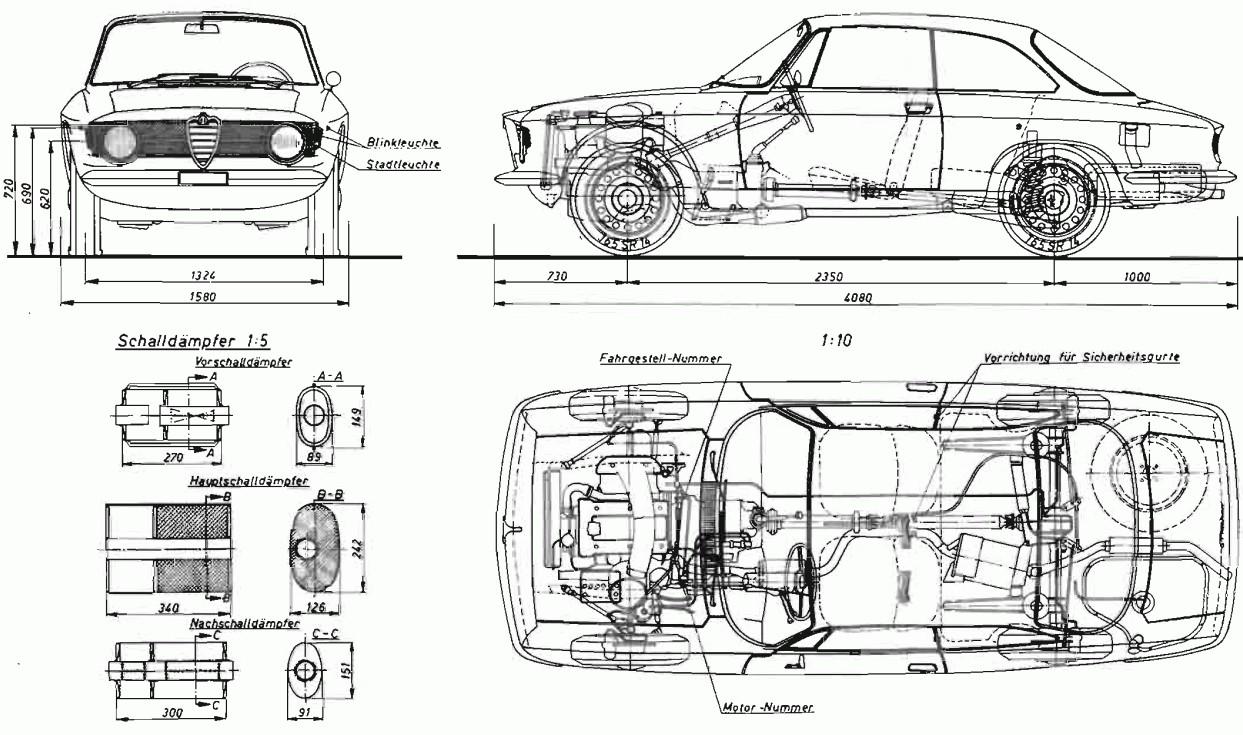 Alfa Romeo Giulia 1300 GT Junior:picture # 8 , reviews