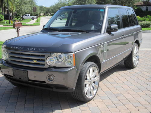 land rover range rover hse supercharged photos reviews. Black Bedroom Furniture Sets. Home Design Ideas