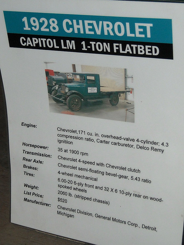 Chevrolet Model LM 1 Ton Flatbed