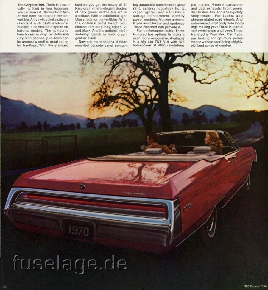 Chrysler 300 Conv 1970:picture # 4 , Reviews, News, Specs