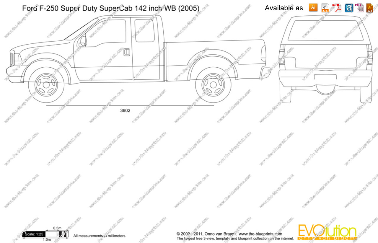 free coloring pages of ford 250 truck