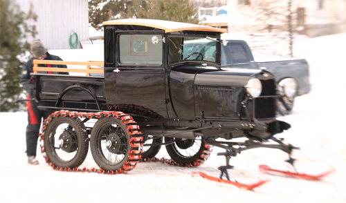 Ford Model T Snowmobile
