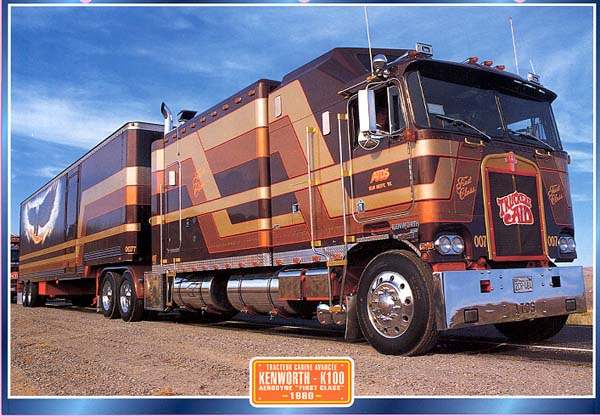 Kenworth k 100 photos news reviews specs car listings for Camion americain interieur