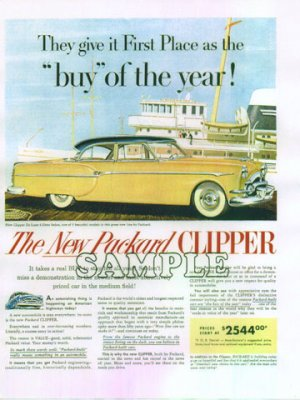 Packard Deluxe Clipper 4-dr Sedan