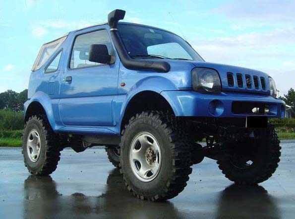 Suzuki Jimny (w/ off road tyres and mods) - uk-preppers co uk