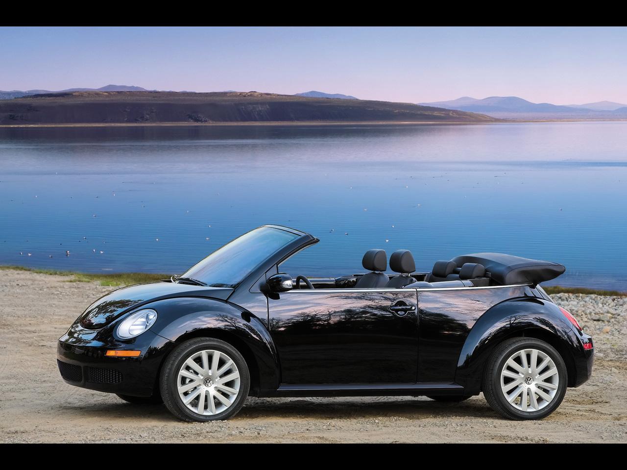 Black Volkswagen Beetle Convertible