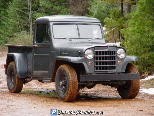 Willys Jeep Truck on Red Willy Jeepster S
