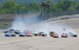14-Car Crash at Talladega Halts NASCAR Race