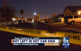 Vegas police probing death of toddler left in hot car