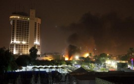 Deadly car bombs hit 2 hotels in Baghdad
