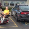 Photo shows cop car parked in handicapped spot at IHOP