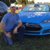 Bernie Sanders 8203fan decks out his Tesla as the Bern Machine