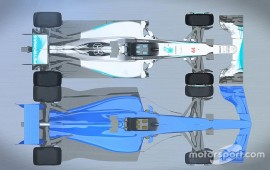 Video F1's 2017 and current cars compared