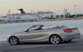 The latest 2-series of BMW in a convertible version