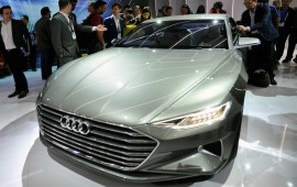 Audi�s autonomous concept car at the 2015 CES