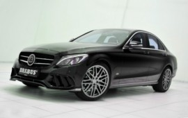 The Brabus tuner begins working on the Mercedes C-class