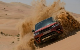 The Range Rover Sport crossed the one of the largest desert