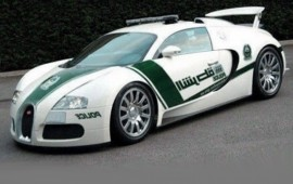 The Dubai police has received the Bugatti Veyron as a patrol car