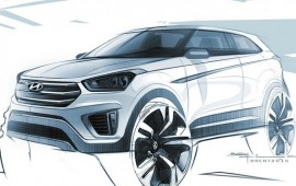 Hyundai previews entry-level Creta crossover