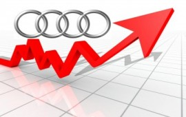 Audi sales increased by 7 percent last month in China and the U.S.A.